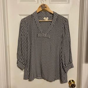 Kate spade black and white blouse
